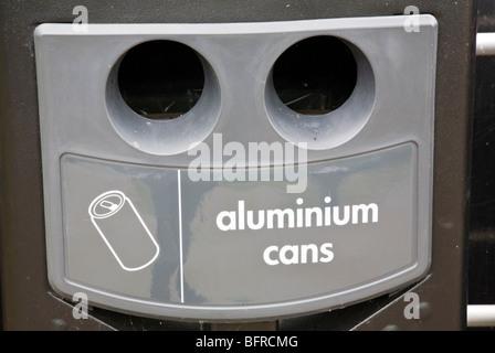 Aluminium can recycling bucket - Stock Photo