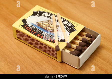 Box of safety matches - Stock Photo