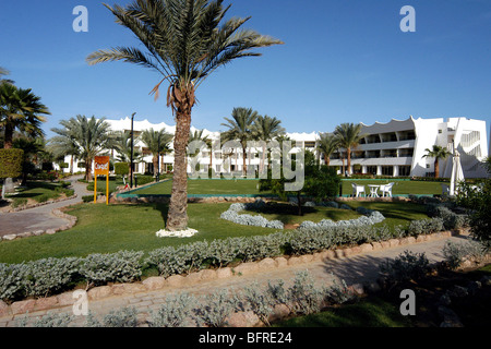 The Gardens at the Coral Hilton Hotel, Nuweiba, Egypt - Stock Photo