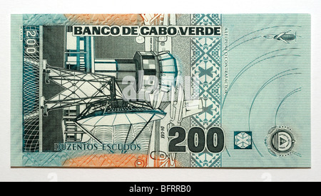 Cape Verde 200 Two Hundred Escudos Bank Note - Stock Photo
