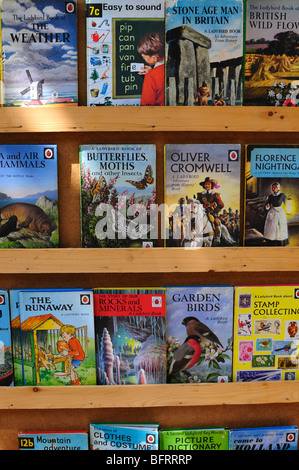 Ladybird books for sale on a market stall, UK