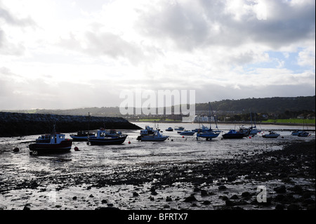 Views across the bay at Rhos on sea - Stock Photo