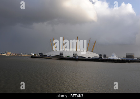 Millenium Dome,  evening, wide view, London - Stock Photo