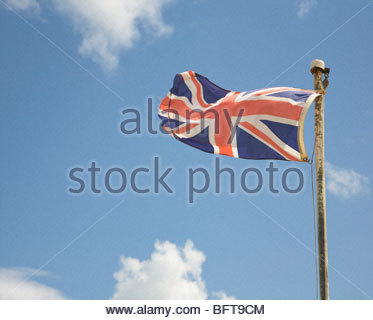 British Union Standard flag against sky - Stock Photo