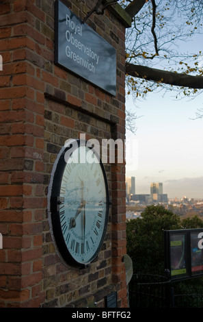 Shepherd gate clock Royal Observatory, Greenwich London England UK - Stock Photo