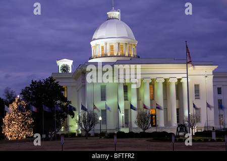 State Capitol of Alabama in Montgomery. - Stock Photo