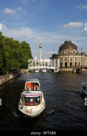Berlin. Germany. River Spree & Musem Island Mitte. - Stock Photo