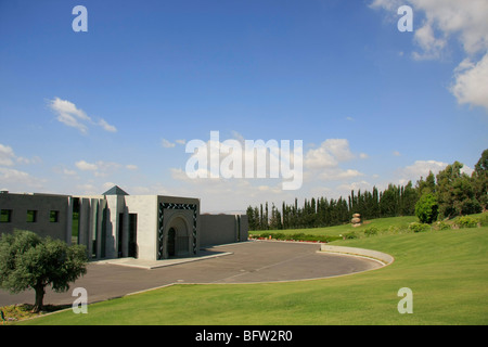 Israel, Sea of Galilee, Domus Galilaeae International Center on the Mount of Beatitudes - Stock Photo