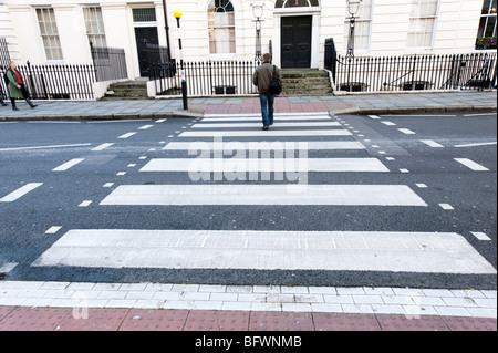 Zebra crossing, London, England, UK - Stock Photo