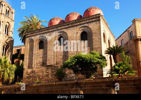 Cappella di San Cataldo, Norman style Medievalo Church, Palermo, Sicily - Stock Photo