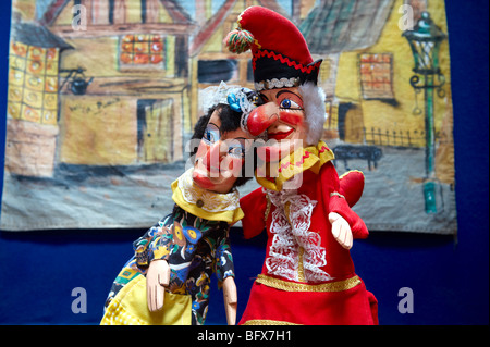 Punch and Judy puppets, Palermo puppet Museum, Sicily - Stock Photo