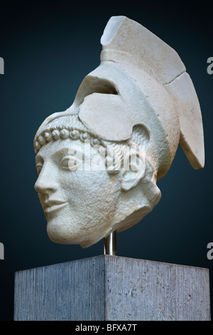 Warrior III from the west pediment of the Temple of Aphaia at Aegina, ca. 490 BC. - Stock Photo