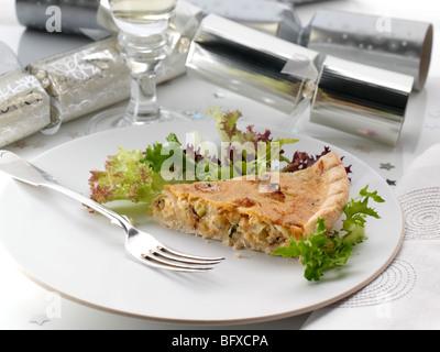 Individual Stilton port leek quiche slice