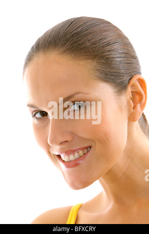attraktive junge Frau, Portrait, beauty attractive young woman - Stock Photo
