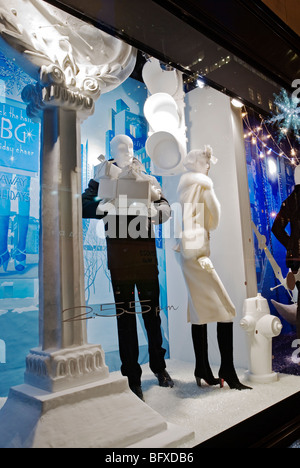 Bergdorf Goodman Christmas Windows - Stock Photo
