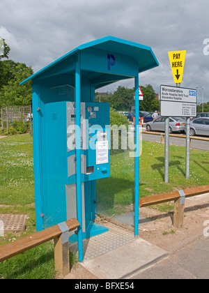 Car parking payment station and charges in 2009 at the Alexandra Hospital, Redditch, Worcestershire, Engalsnd - Stock Photo