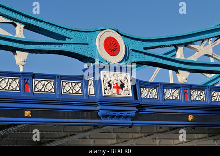 Detail view of Tower Bridge, London, United Kingdom - Stock Photo