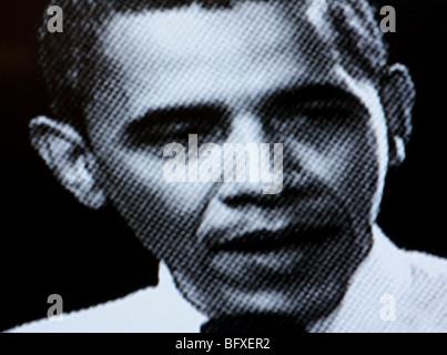 computer manipulated photo of United States President Barack Obama - Stock Photo