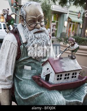 Santa Claus life size statue. - Stock Photo