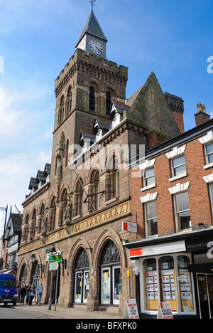 Grand building in a small English town: Congleton town hall, Cheshire. Click for more details. - Stock Photo