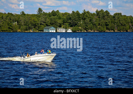 Cottage Country in the Summer on Lake Muskoka in Gravenhurst,Ontario;Canada - Stock Photo