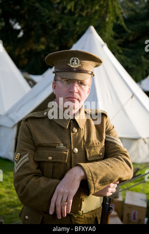 Richard Knight, historian and supplier of authentic British army uniforms and equipment from the two world wars. - Stock Photo