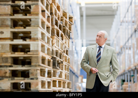 man in charge in storage - Stock Photo