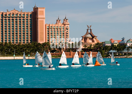 Junior Sailing Regatta, Bahamas Sailing Association, Nassau, Bahamas - Stock Photo