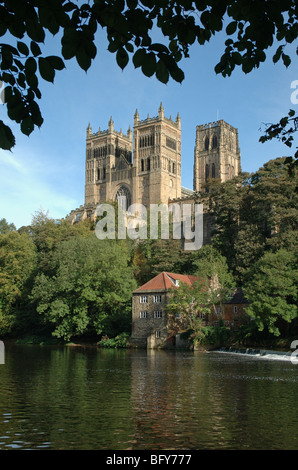 Durham Cathedral and the River Wear, Durham, England, UK - Stock Photo