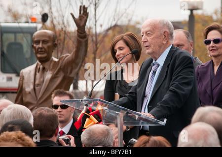 Unveiling of William Donald Schaefer Sculpture at Baltimore Inner Harbor - Stock Photo