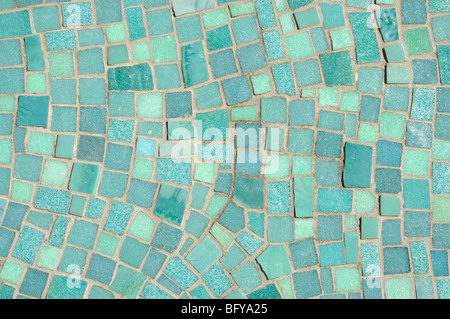 Green and Blue Mosaic Background - Stock Photo