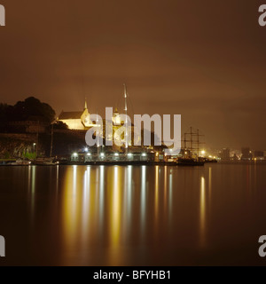 Akershus Fortress and Harbour - Stock Photo