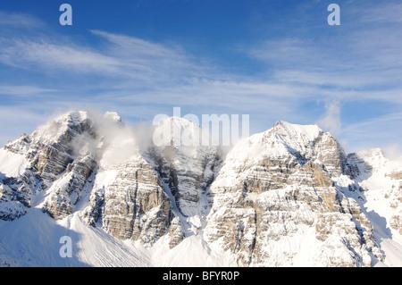 Schlick 2000 ski resort, Stubai Valley, Austria, Europe - Stock Photo