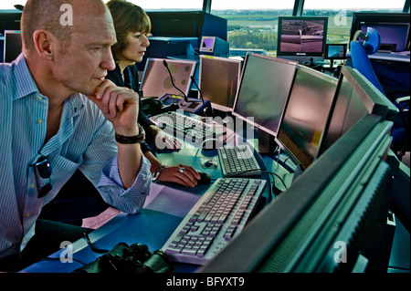Office operator stress at the computer - Stock Photo