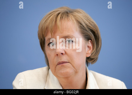 Angela Merkel, CDU, chancellor Germany , Berlin 18.09.2009 - Stock Photo