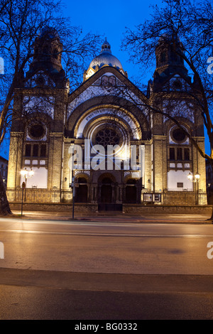 Synagogue by night,Novi Sad,Serbia - Stock Photo