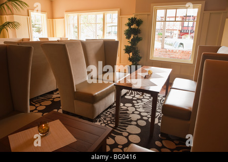 lounge, Root 246 Restaurant, Solvang, California, United States of America - Stock Photo