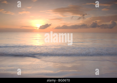 Sunrise On Pink Sands Beach Harbour Island The Bahamas West Indies Central