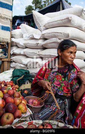 Friday Market in Solola Guatemala. - Stock Photo
