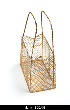 Wire Mesh Basket - Stock Photo