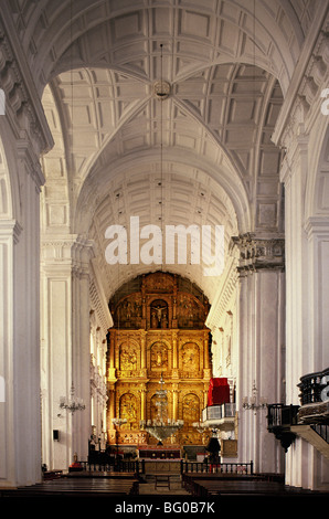 Se Cathedral in Old Goa, UNESCO World Heritage Site, Goa, India, Asia - Stock Photo