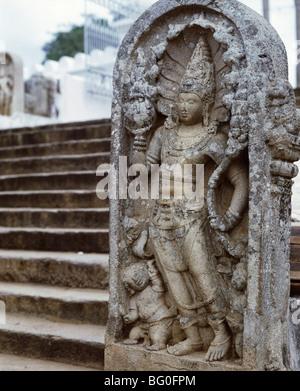 Stelae in Anuradhapura, UNESCO World Heritage Site, Sri Lanka, Asia - Stock Photo