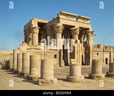 Ptolemaic temple of Haroeris and Suchos (Horus and Sobek), Kom Ombo, Egypt, North Africa, Africa - Stock Photo