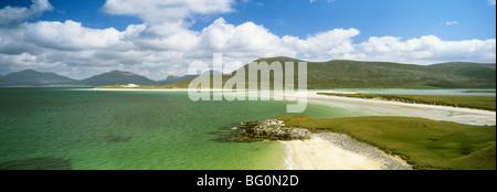 Beach at Seilebost, Isle of Harris, Outer Hebrides, Scotland, United Kingdom, Europe - Stock Photo