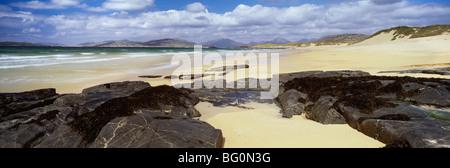 Seilebost Beach, Isle of Harris, Outer Hebrides, Scotland, United Kingdom, Europe - Stock Photo