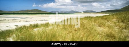 Low tide at Seilebost Beach, Isle of Harris. Outer Hebrides, Scotland, United Kingdom, Europe - Stock Photo