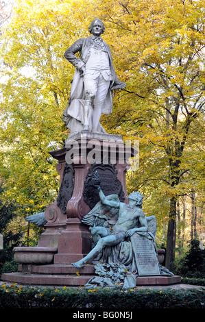 Memorial to Gotthold Ephraim Lessing, German writer, philosopher, dramatist, publicist, and art critic. Tiergarten, - Stock Photo
