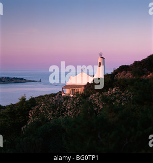 Church, Porto Cervo, Costa Smeralda, Sardinia, Italy, Mediterranean, Europe - Stock Photo