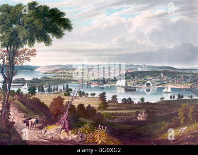 City of Washington from beyond the Navy Yard , 1833 - Stock Photo