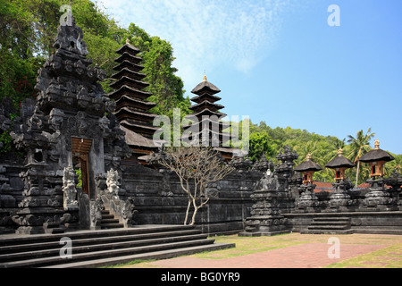 Pura Goa Lawah Temple in Bali, also known as Bat Cave Temple because of the thousands of bats that live there. - Stock Photo